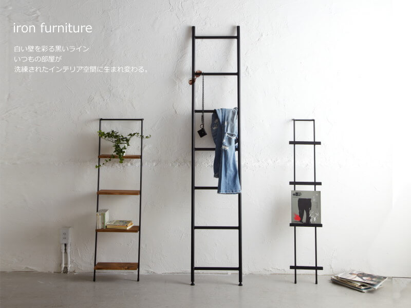 Escada de ferro usada na decoração
