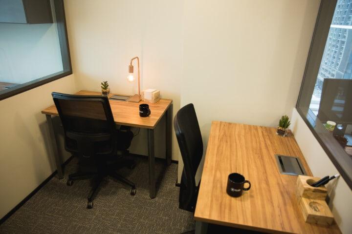 Espaço privativo em coworking