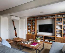 Feng Shui para sala de estar com sofá em L Projeto de Oliveira Arquitetura