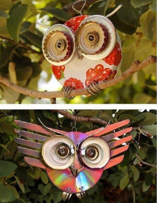 Forme lindas corujas através do artesanato com CD