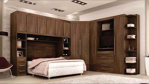 Guarda roupa modulado em madeira