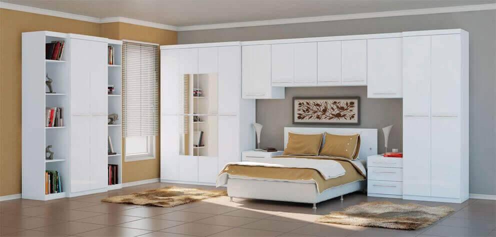 Guarda roupa modulado para quarto chique de casal
