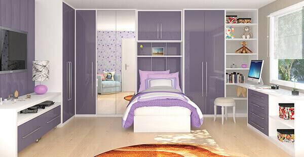 Guarda roupa modulado para quarto de menina