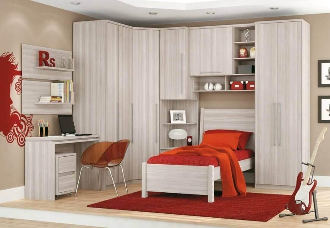 Guarda roupa modulado para quarto pequeno