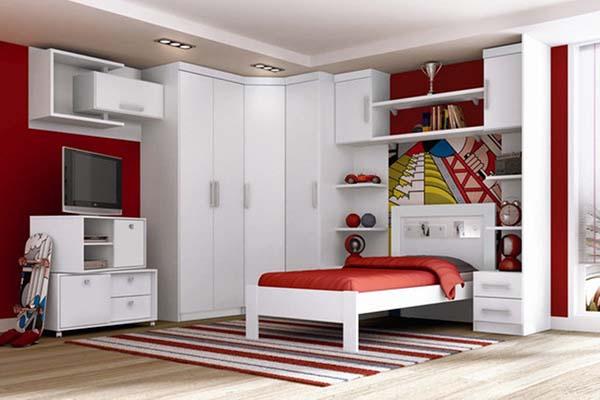Guarda roupa modulado para quarto teen