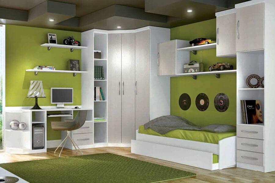 Guarda roupa modulado verde