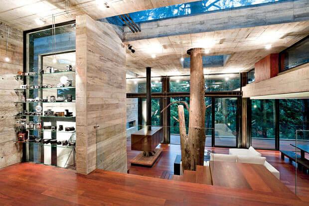 Mansão com arquitetura tropical