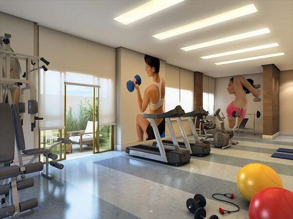 Mansão com espaço fitness