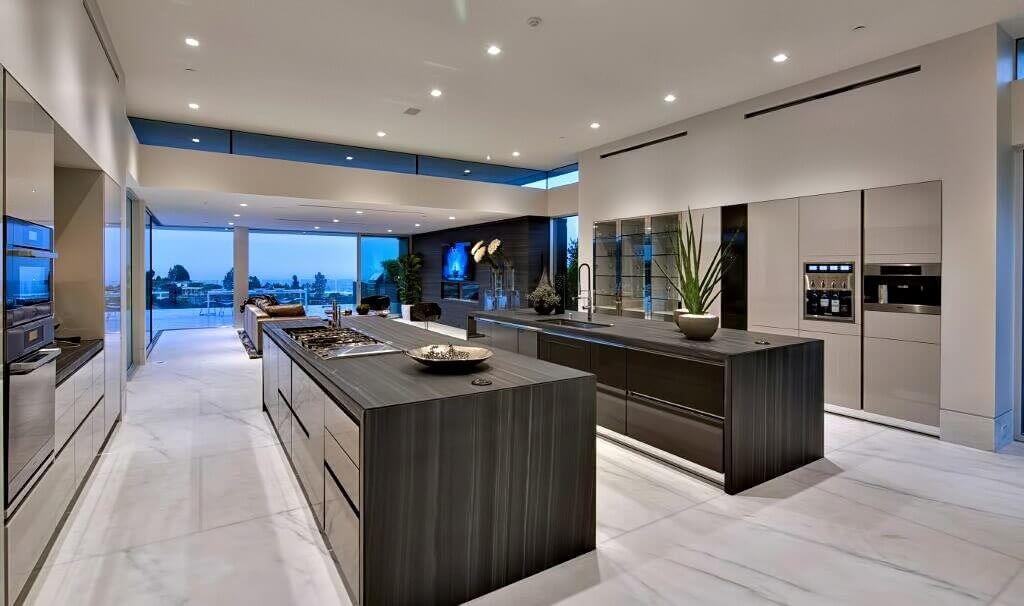 Mansão de luxo cozinha grande