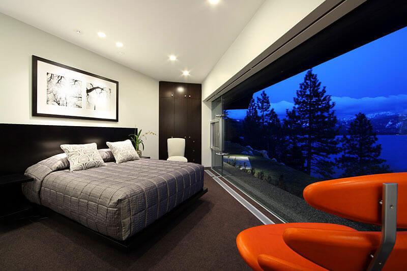 Mansão de quarto de luxo decorado
