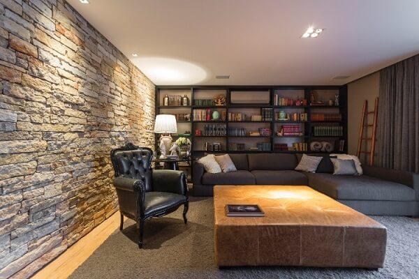 Mansão espaço com biblioteca