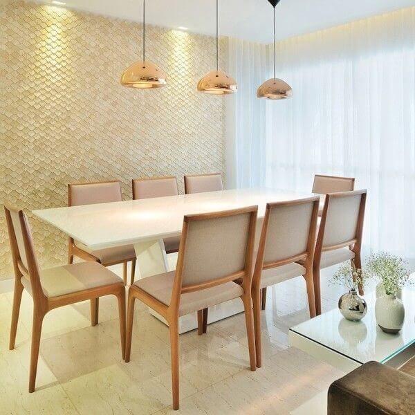 Mesa para sala de jantar branca