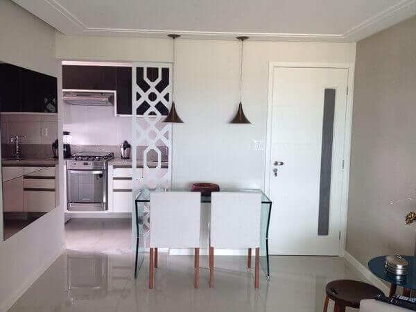 Mesa para sala de jantar de vidro