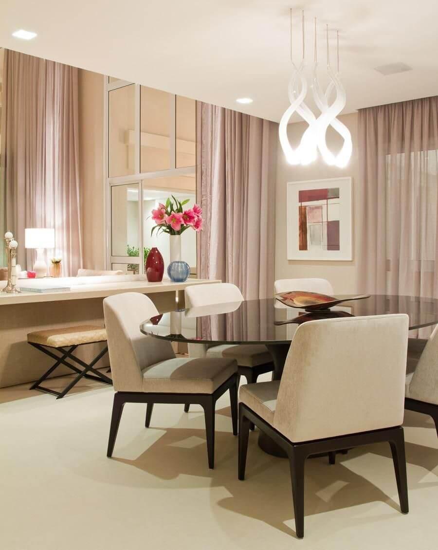 Mesa para sala de jantar redonda