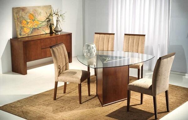 Mesa para sala de jantar triangular