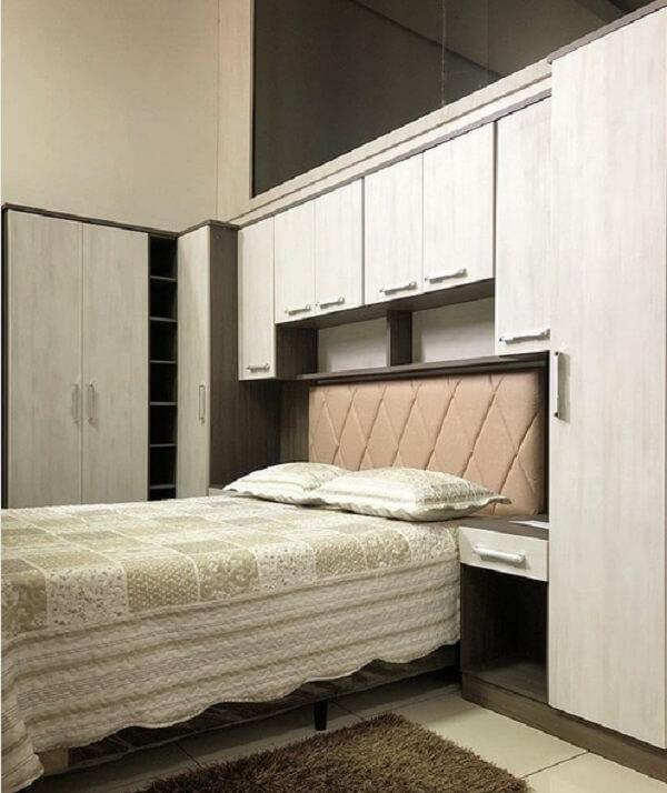Os módulos facilitam a otimização do dormitório. Fonte: Pinterest