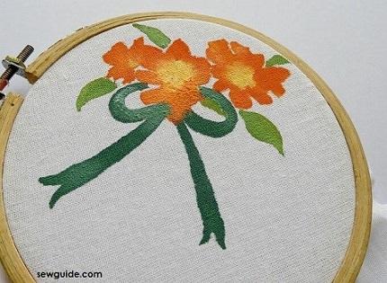 Pintura em tecido em bastidor