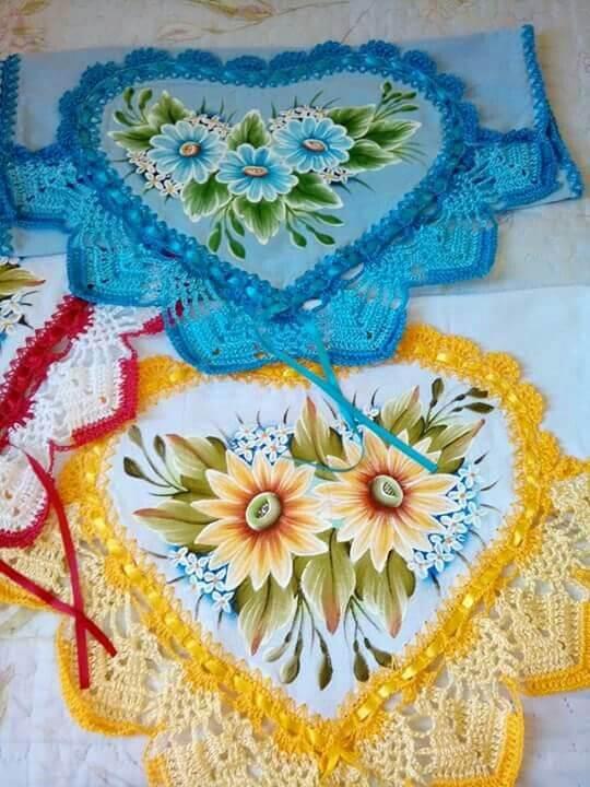 Pintura em tecido em panos de prato