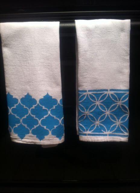 Pintura em tecido para o banheiro