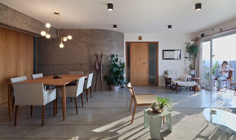 Pisos para sala de cimento queimado Projeto de Odvo Arquitetura