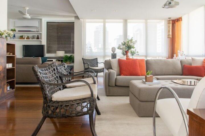 Poltronas para sala de estar de vime Projeto de Danyela Correa