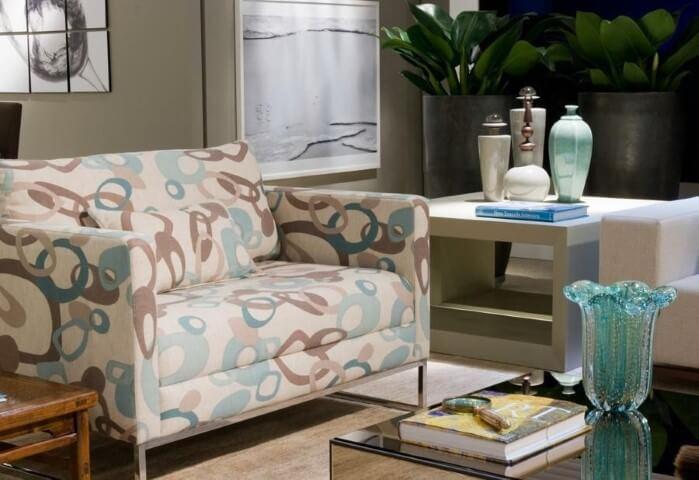 Poltronas para sala de estar estampadas Projeto de Marilia Veiga