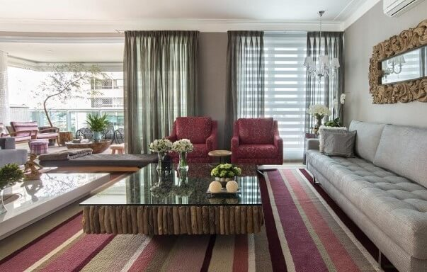 Poltronas para sala de estar estampadas Projeto de Orlane
