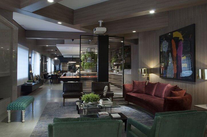 Poltronas para sala de estar pretas sem apoios para braço Projeto de Luiz Sentinger