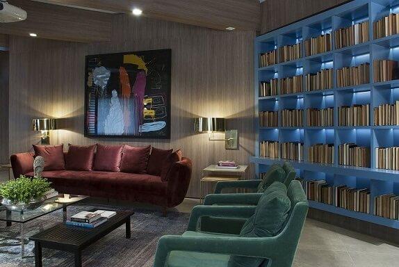 Poltronas para sala de estar verdes Projeto de Luiz Sentinger