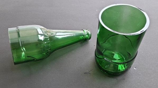 Resultado de como cortar garrafa de vidro