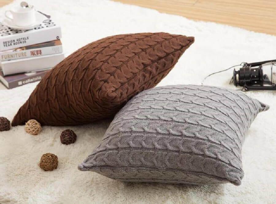 almofadas de crochê para decoração clean