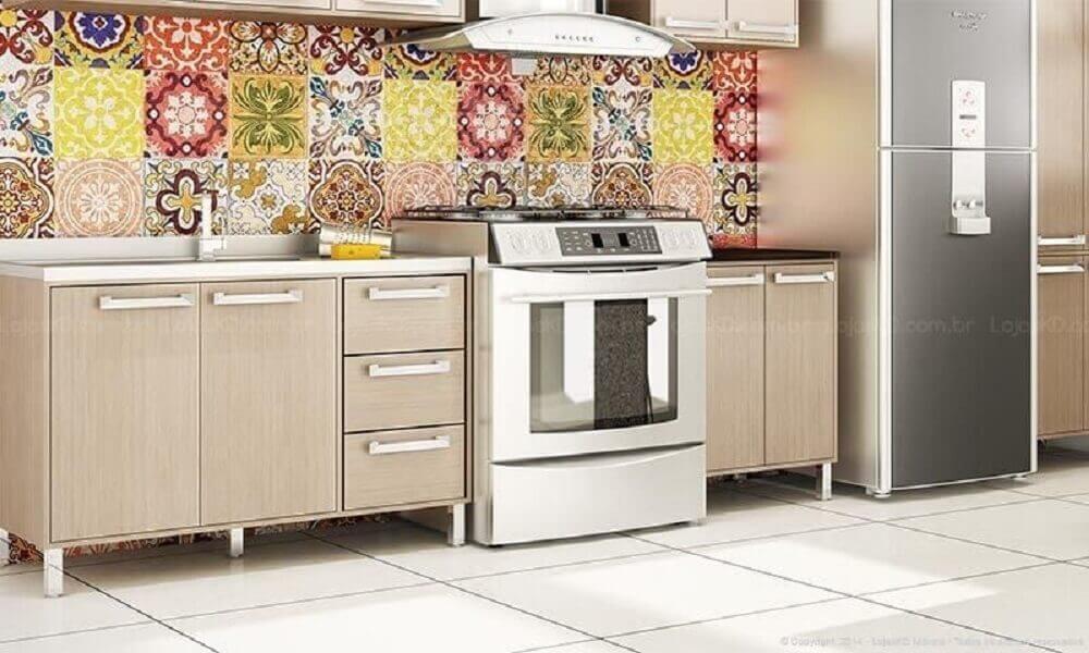 azulejo de ladrilhos coloridos para cozinha