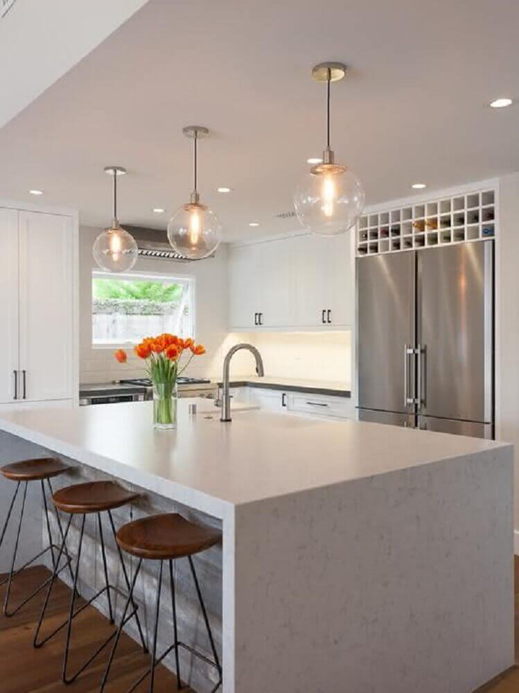 bancada de silestone para cozinha sofisticada
