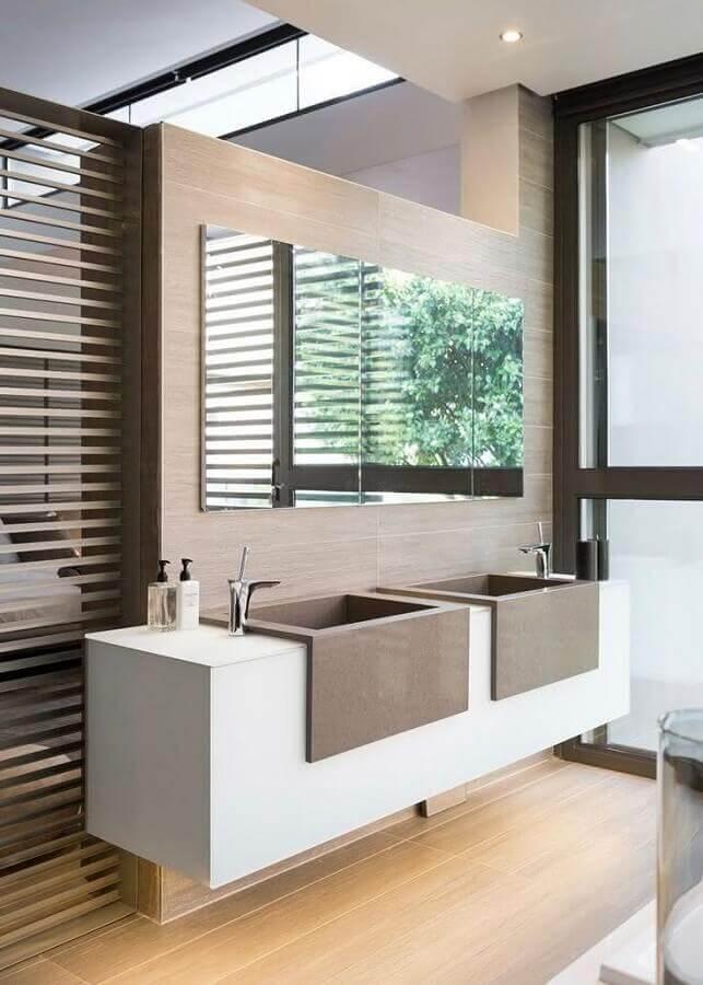 bancada planejada para banheiro moderno Foto Architecture Beast