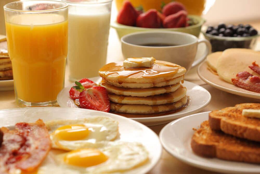 café da manhã pós festa do pijama
