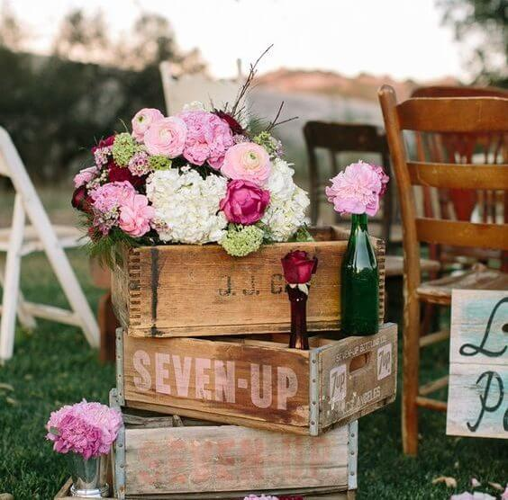 box of rustic decoration for marriage