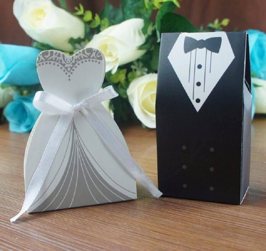 caixinhas noivo e noiva de lembrancinhas de casamento