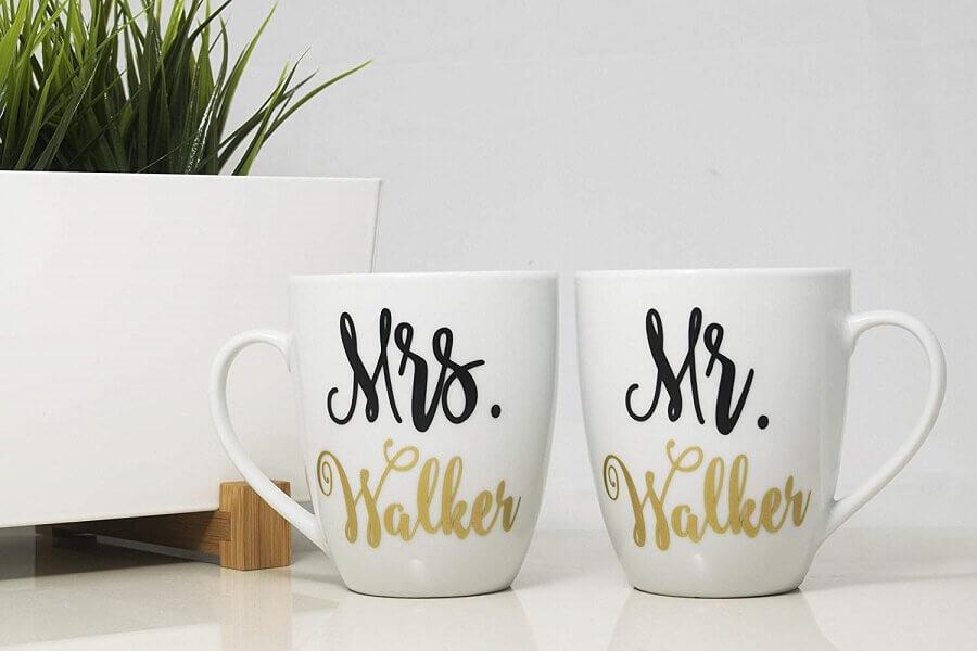 canecas personalizadas como lembrancinhas de casamento