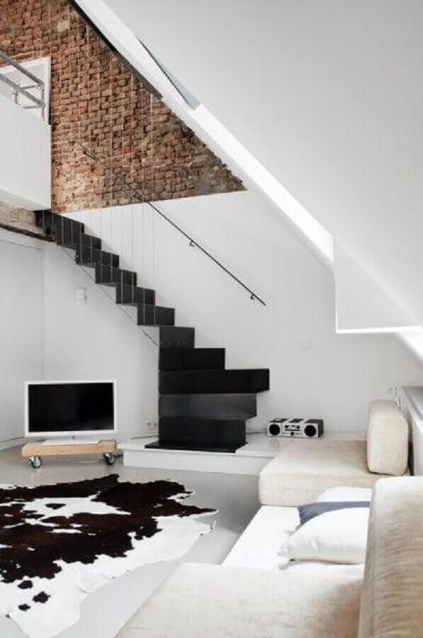 casas minimalistas com parede de tijolinho