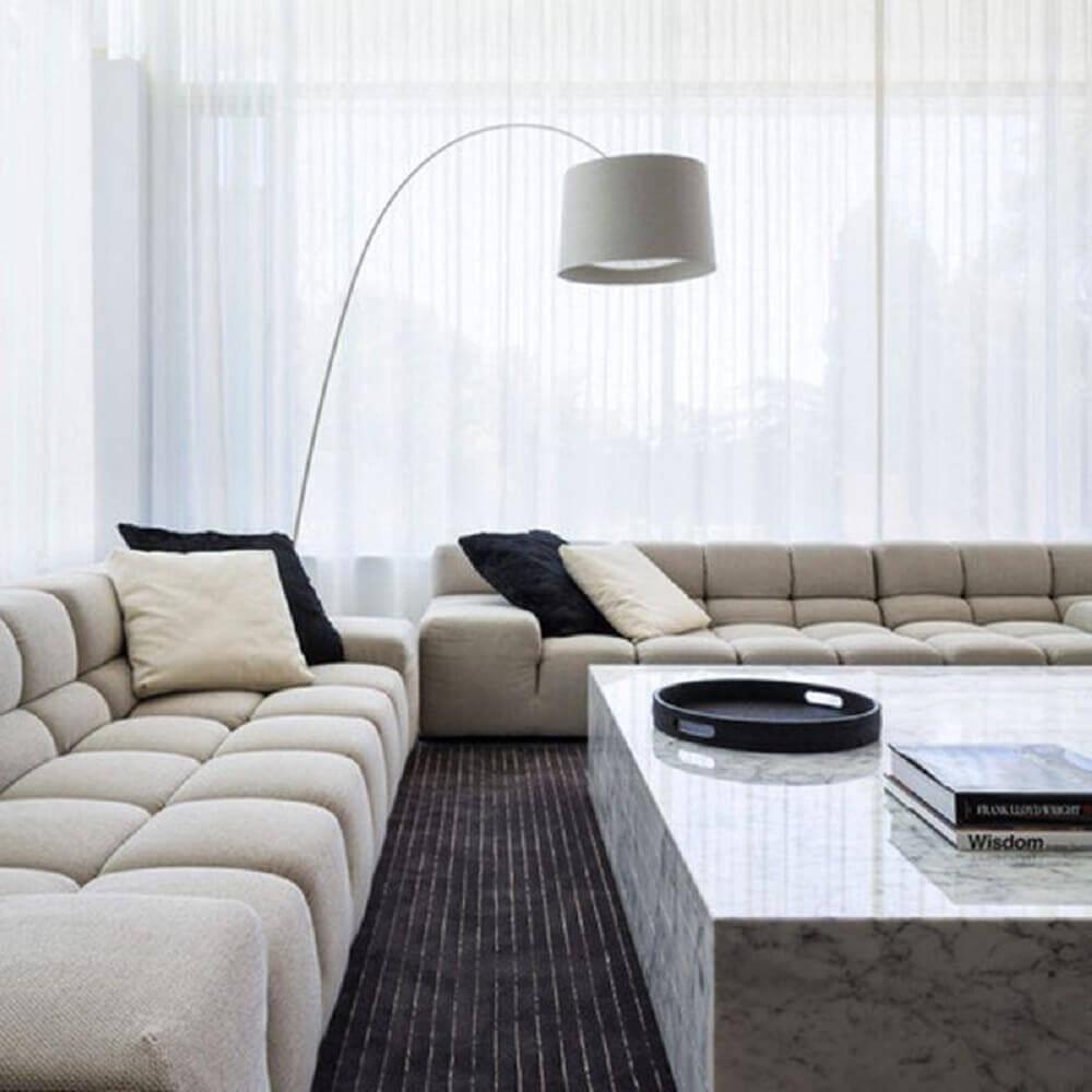 Decoração de casas minimalistas com estilo moderno e clean