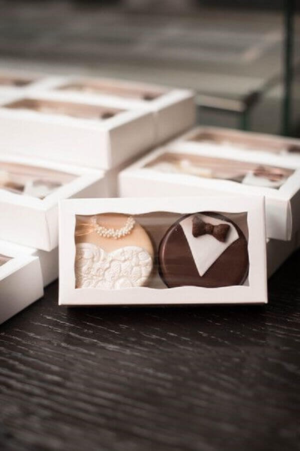chocolates confeitados de lembrancinhas para casamento
