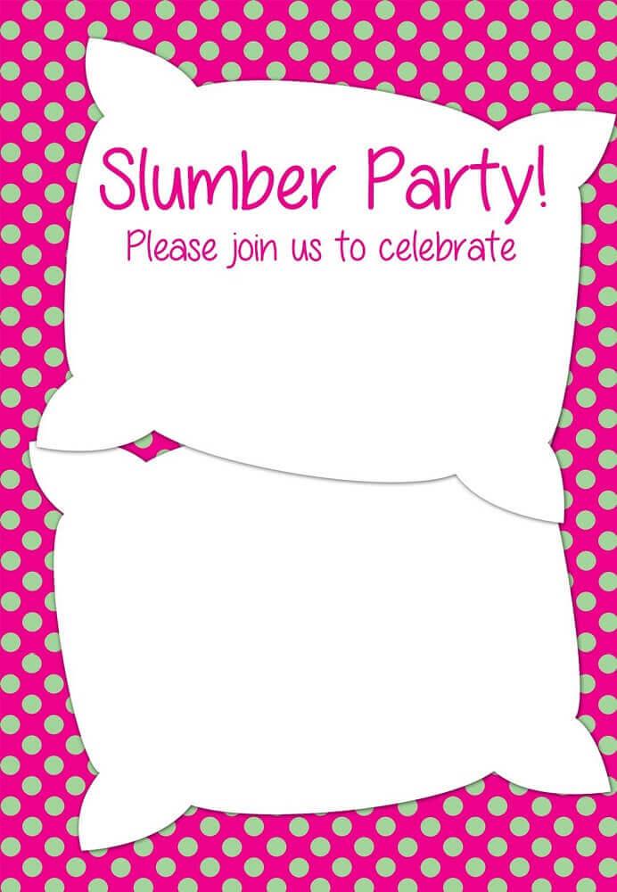 convite para festa do pijama em formato de travesseiro