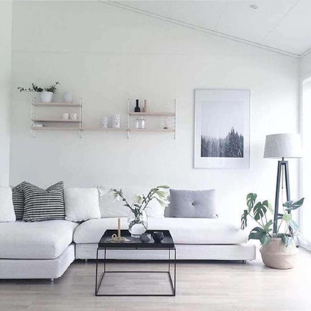 cores de casas com sala branca