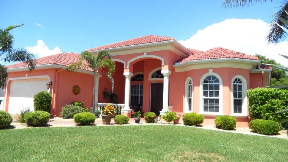 cores de casas rosa
