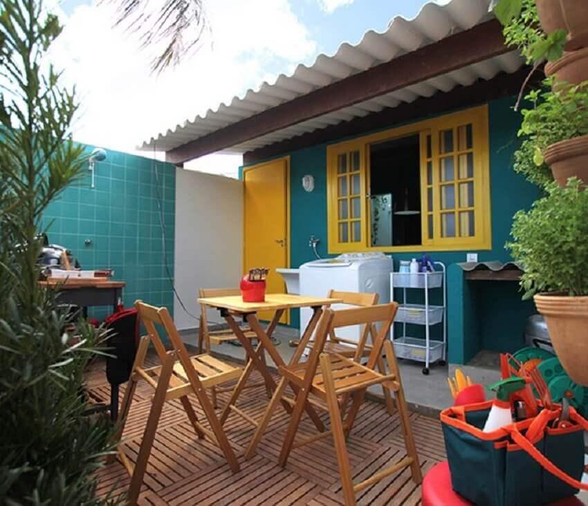 cores de casas verde e amarelo