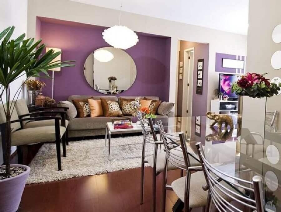 cores de tinta para sala violeta