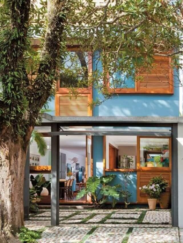 cores de tintas para pintar casa azul