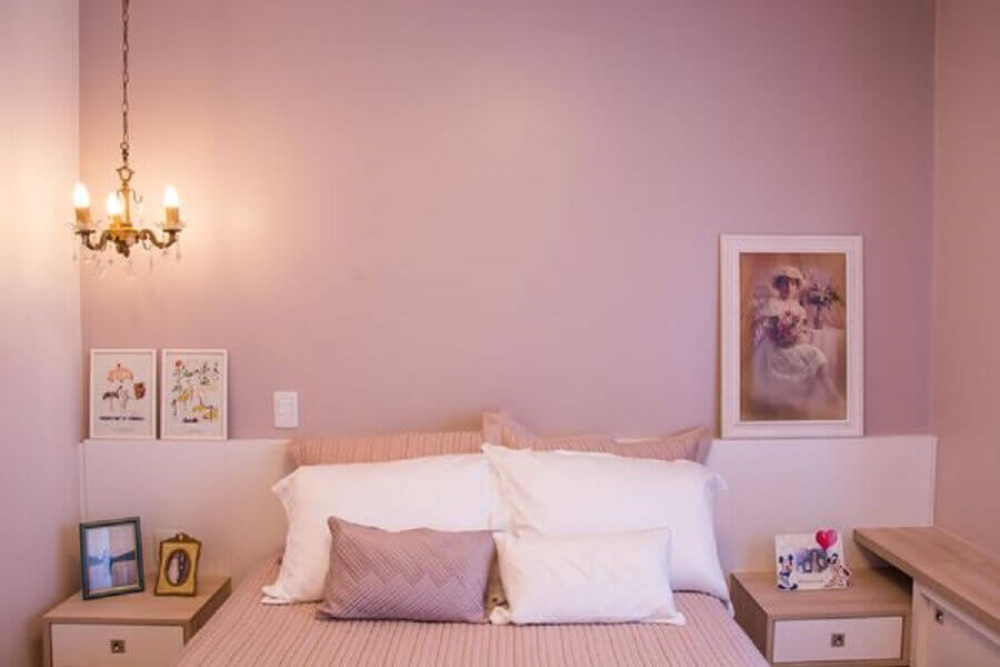 cores de tintas para pintar casa com quarto rosa