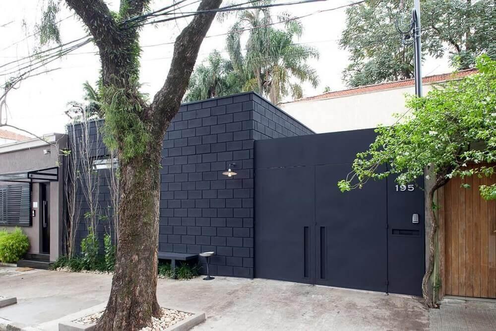 cores para casa com fachada preta