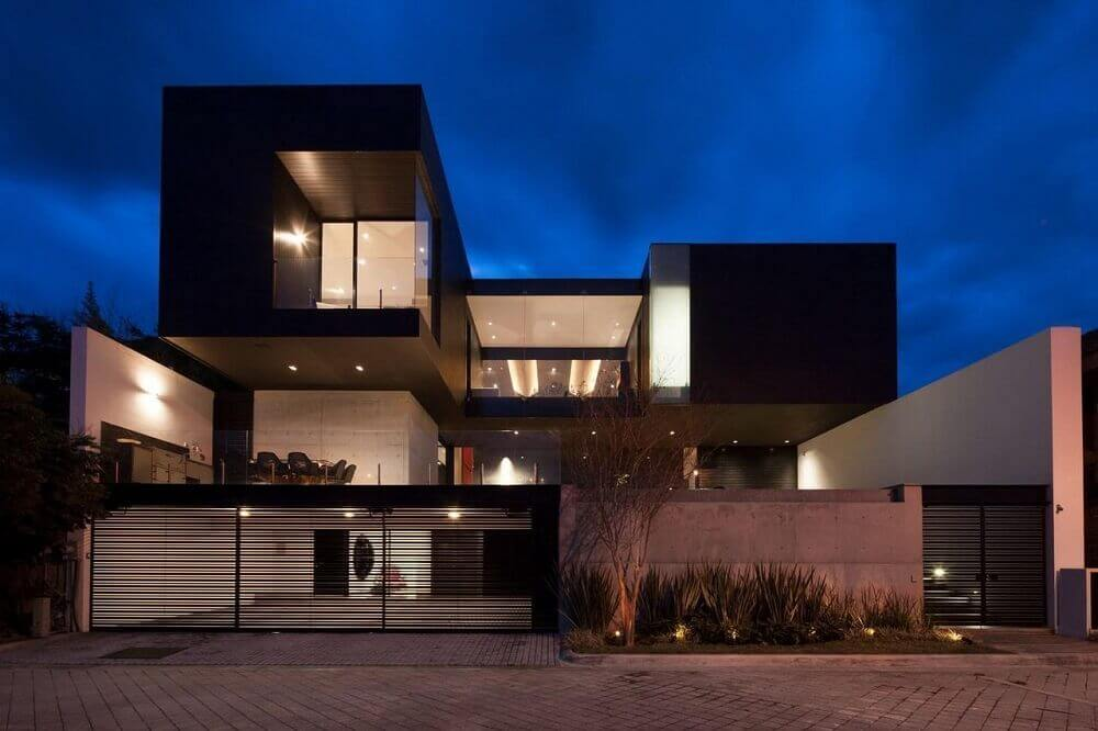 cores para casa moderna e preta